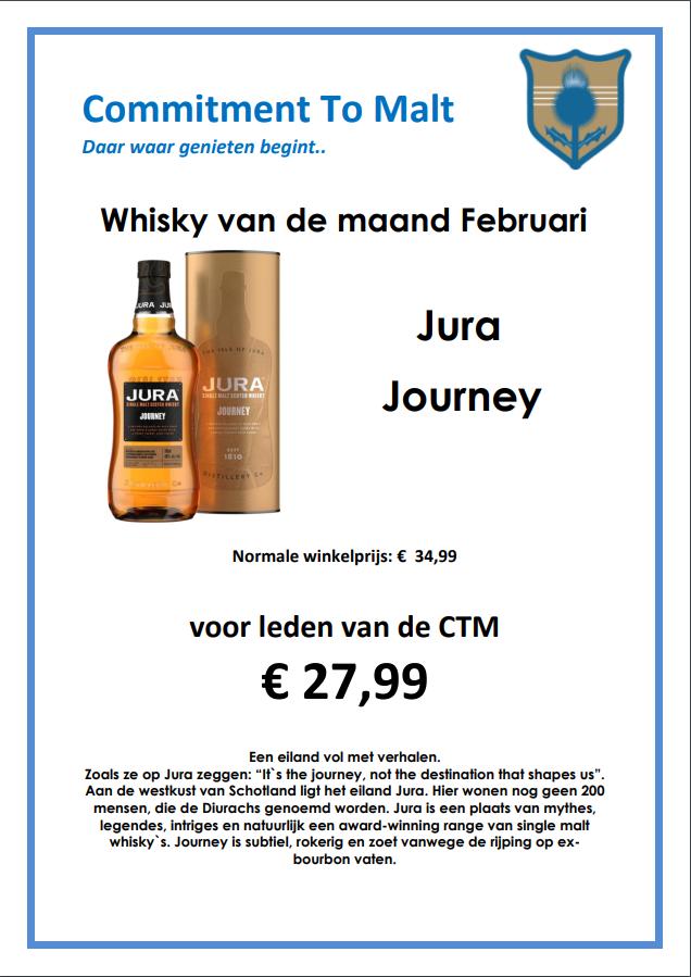 Whisky van de maand Februari 2019 : Jura Journey