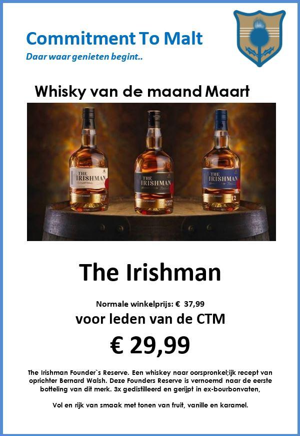 Whisky van de maand Maart 2019 : The Irishman